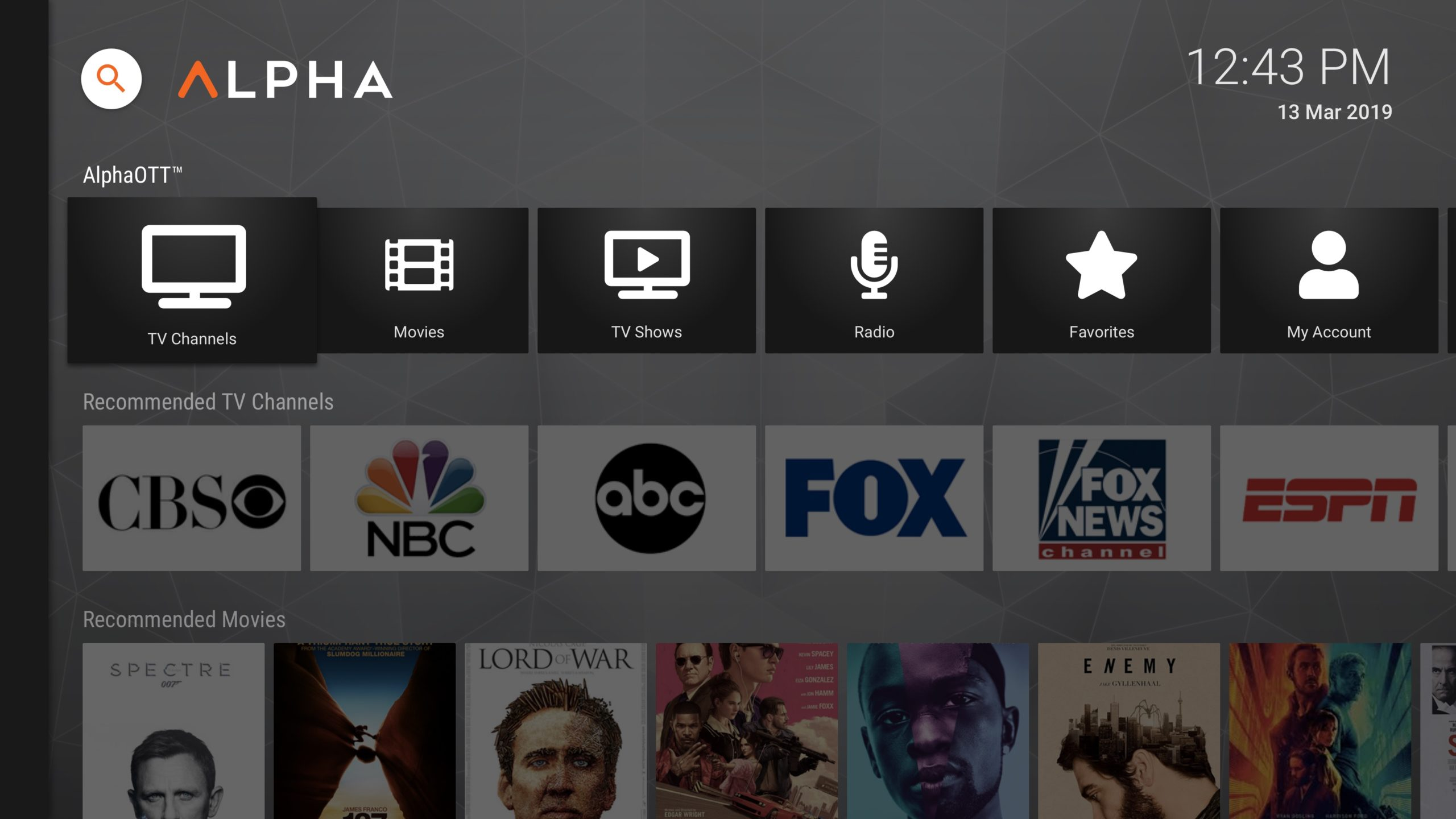 New UI for AndroidTV, FireTV, and AOSP